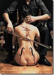 скрипка женщина